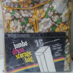 Vintage Jumbo Dress Storage Bag -Closet Organizer